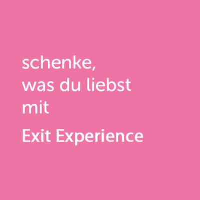 Partner-Wertgutschein: schenke, was du liebst mit Exit Experience - Platzhalter rot