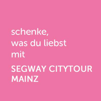 Partner-Wertgutschein: schenke, was du liebst mit Segway Citytour Mainz - Platzhalter rot